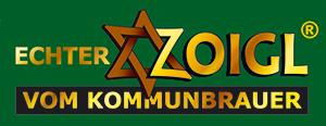 """Logo """"Echter Zoigl vom Kommunbrauer"""""""